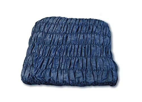 Confezioni.Giuliana Copridivano angolare Universale Arricciato Blu Melange 5 posti
