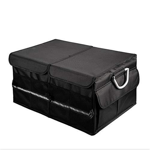 Bolso de almacenamiento de arranque del coche Organizador de arranque del coche Compras plegables de servicio pesado Tidian almacenamiento Organizador de carga SUV ( Color : Black , Size : One size )