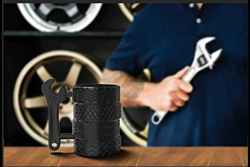 Product Image 9: MISHOWNET Tire Coffee Tea Mug Gift for Car Lovers Mechanics Car Enthusiasts Christmas Gifts for Man Birthday Gift