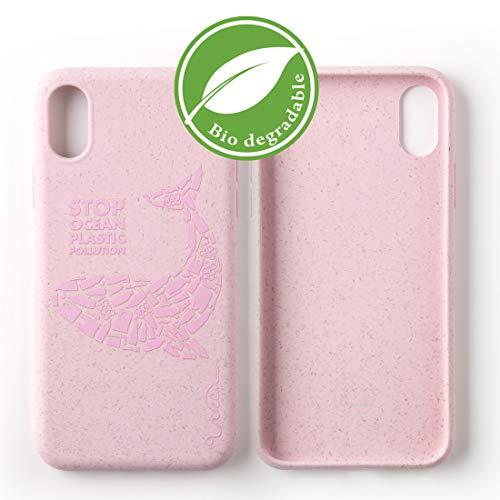 Custodia per Telefono Wilma Biodegradabile Ecologica Compatibile con iPhone XR Ferma l'Inquinamento degli Oceani dalla Plastica, Senza Plastica, Atossica, Completamente Protettiva - Balena Matte