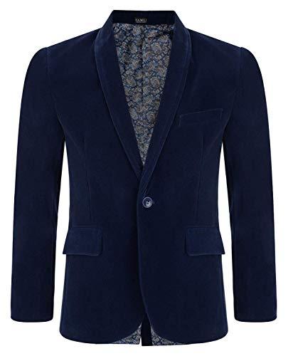 LOTMART jongen velvet blazer kinderpak jas paisley voering elegant vrije tijd formel mantel 6m-15y en gratis cadeau promotiepen per pakje