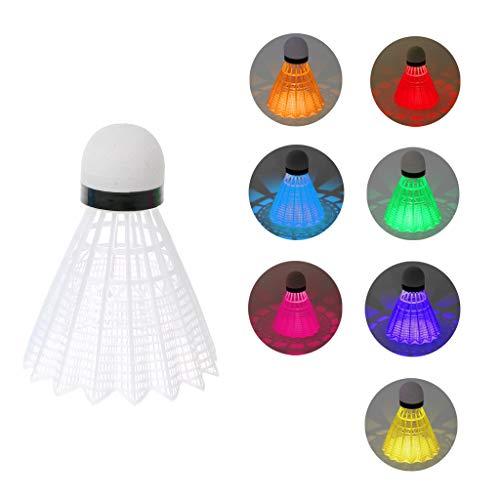 Kalttoy LED-Badminton-Bälle aus Kunststoff, leuchtet bei Nacht, 4 Stück