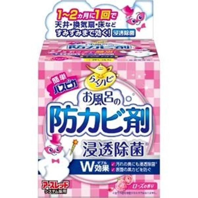 ソケット研究天気(まとめ)アース製薬 らくハピお風呂の防カビ剤ローズの香り 【×3点セット】
