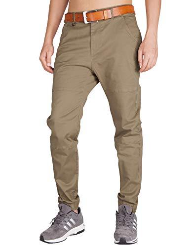 ITALY MORN Pantalón para Hombre Chino Casual Jogging Algodón Slim Fit 11 Colores