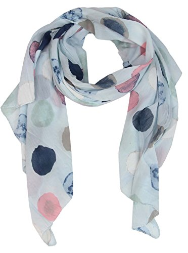 Cashmere Dreams Seiden-Tuch für Damen mit Punkt-Print von Zwillingsherz/Elegantes Accessoire für Frauen auch als Schal/Seiden-Schal/Halstuch/Schulter-Tuch oder Umschlagstuch einsetzbar (hellblau)
