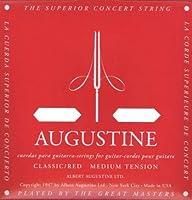 AUGUSTINE RED 3弦バラ弦単品×4本 クラシックギター弦 3弦のみのバラ弦です。