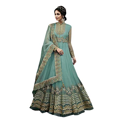 ETHNIC EMPORIUM Designer New Kleid Kleidungsstil Anarkali Kameez Salwar Suit Anzug Mit Dupatta Party Wear Maxi Kleid Ethics Indian for Women...