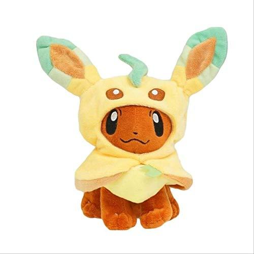 N\A Pokemon Pikachu Vaporeon Eevee Jolteon Umbreon Espeon Sylveon Peluche, Muñecas De Peluche Suaves Regalo para Navidad 27-31CM Leafeon