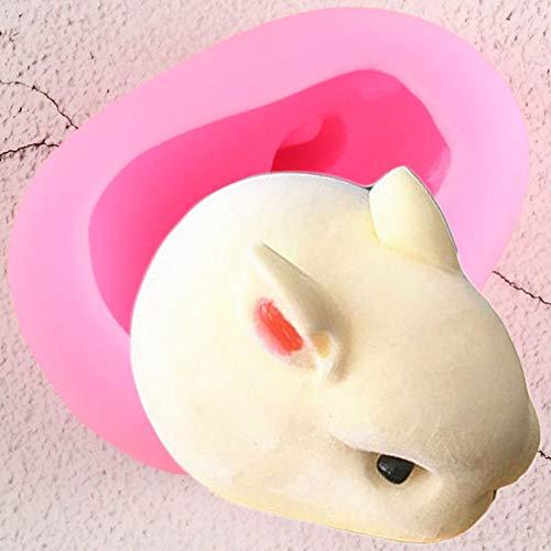 YTYASO Moldes de Silicona de Conejito Anmials Molde de Helado de Conejo Herramientas de decoración de tortas con Fondant Moldes de Chocolate Dulces