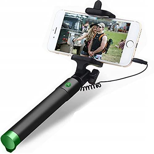 Retoo Erweiterbar Selfie Stick 78cm mit 360 Grad drehbarer, rutschfest Einbeinstativ mit Hand Griff und Griffbereich 90MM, Monopad für Self Portrait, iOS, Android, Smartphone, Teleskop Stab