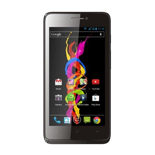 Archos 502495 45 Titanium Dual-SIM Smartphone (11,4 cm (4,5 Zoll) Touchscreen, 5 Megapixel Kamera, micro-SD Kartenslot, Android 4.2)