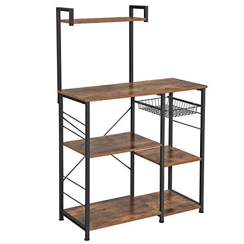 VASAGLE Baker's Rack with Shelves, Kitchen Shelf with Wire...