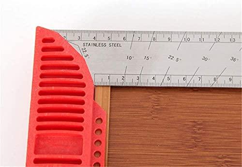 Conveniencia Regla de ángulo de pantalla digital regla de ángulo de asiento ancho de acero inoxidable de acero inoxidable 90 grado ángulo derecho L en forma de carpintería en forma de carpintería del