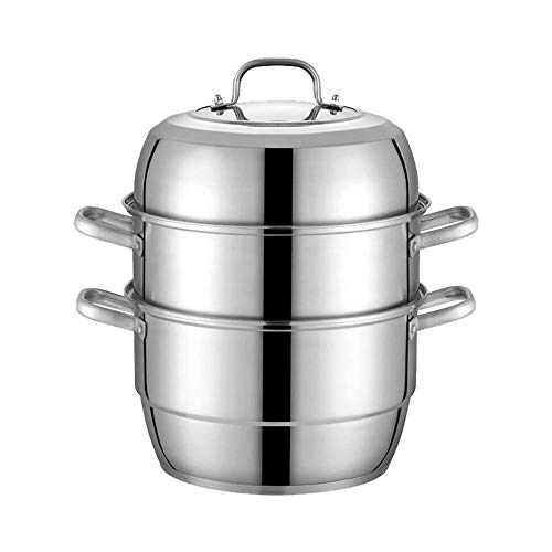 Cuiseur vapeur en acier inoxydable pour cuisinière à induction à gaz 3 couches 32 cm