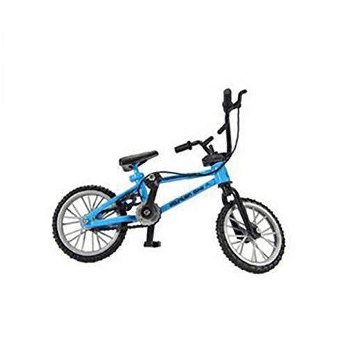 linjunddd Bicicleta Dedo Funcional Miniatura Nini Montaña Bici del Deporte De Los Juguetes Metálicos De Juegos para Niños Boys Blue 1pc