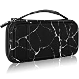 Fintie Carry Case for Nintendo Switch - [Shockproof] Hard Shell Protective Cover Travel Bag w/10 Game Card Slots, Inner Pocket for Nintendo Switch Console Joy-Con & Accessories (Marble Black)