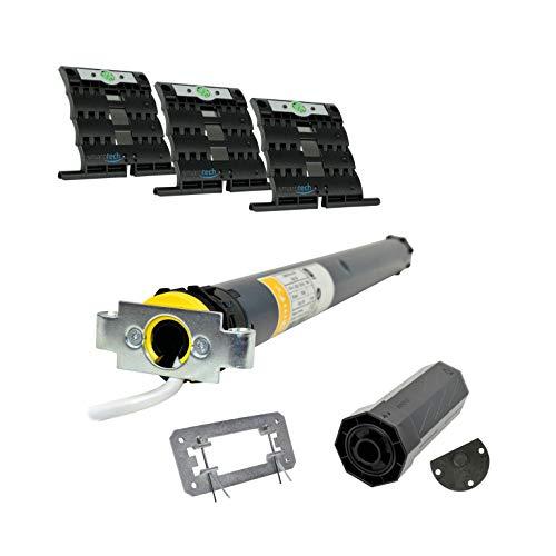 smarotech® Nachrüstset zum Modernisieren von Gurt/Kurbel: smarotech® Montageset SW40 (für 40mm 8-kant-Wellen) inkl. Rollladenmotor Oximo 40 io 9/16 (bis 3,9m²) und ohne Sender