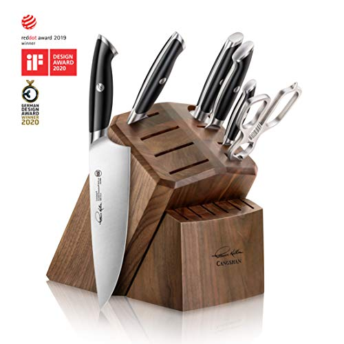 Cangshan 1024685 Thomas Keller Signature Collection 7-Piece Knife Block Set with 8 Spare Slots