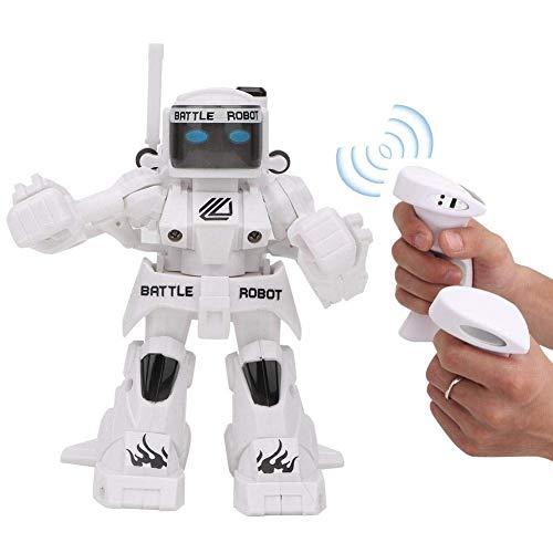 Wesxm Control Remoto Robot de Boxeo 2.4G Sensor de Movimiento Control Remoto Robot de Lucha Iluminación Infantil Robot RC Inteligente con luz LED, for niños niñas (Color : White)