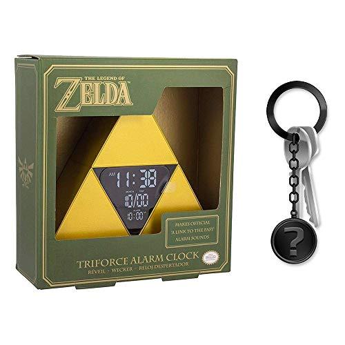 yvolve Zelda - Triforce - Wecker von Nintendo   Original Merchandise   Set inkl. Schlüsselanhänger