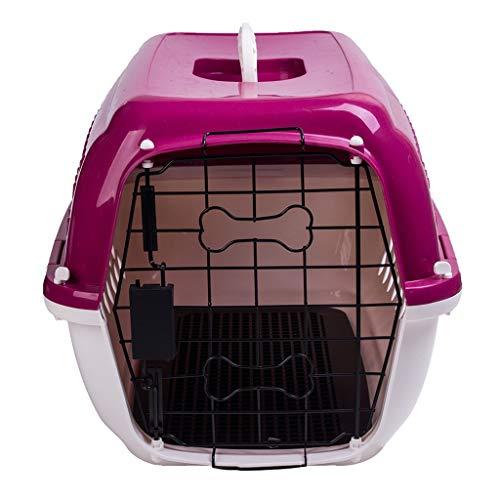 Jlxl transportbox huisdier auto drager kattenetui kunststof luchtvaart-nest kleine middelgrote honden kooi vergrendelen draaggreep
