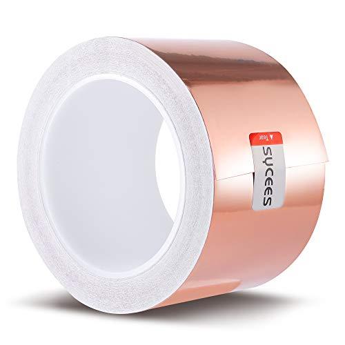 SYCEES 20M x 70mm EMI Kapton Tape Klebeband Selbstklebend Abschirmband Kupferfolie Kupferband Schneckenschutz