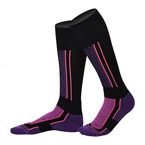 Wdonddonyjw Calcetines de yoga Invierno deportes al aire libre Hombres Mujeres Esquí calcetines otoño de excursión subir snowboard Calentar el sudor calcetines de algodón calcetines de los deportes De