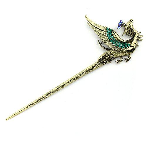 ZQ Vintage Phoenix Épingle à Cheveux Classique Bijoux Style Ethnique Scorpion Mode Femme Cheveux Accessoires Personnalité Tiara Épingle à Cheveux