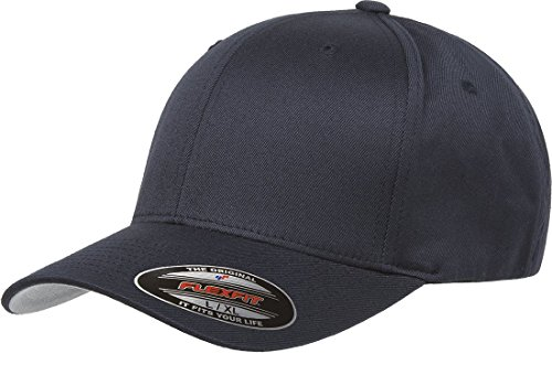 Flexfit Men's Athletic Baseball Fitted Cap, Dark Navy, S/M