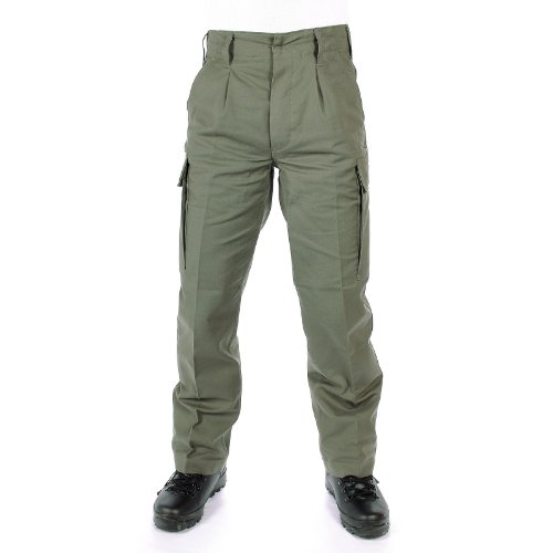 Pantalon camouflé original - En moleskine - Vert -