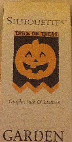 Schwarzkopf Silhouettes Jack O' Laterne, Gartenflagge, 13 x 18 cm