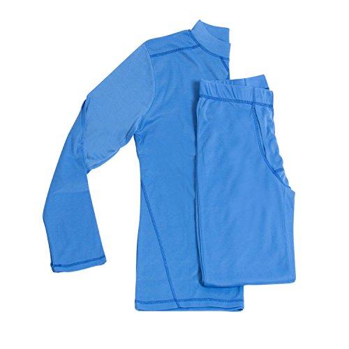 Gregster Herren Skiunterwäsche Set, Blau, XL, 11378