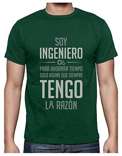 Green Turtle T-Shirts Camiseta para Hombre - Regalo Original para Ingenieros Large Verde Menta