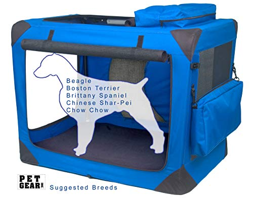Pet Gear 3 Door Portable Soft Crate, Folds Compact...