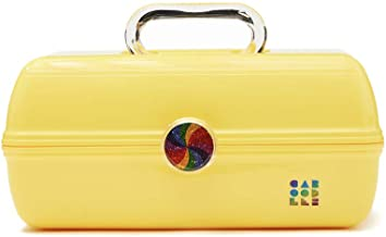 Caboodles Rainbow Rad - On-The-Go Girl Makeup Organizer, Bright Yellow
