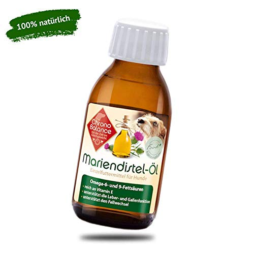 ChronoBalance® 100ml Mariendistel-Öl für Hunde - natürliche Nahrungsergänzung - unterstützt den Fellwechsel - reich an Vitamin E, Omega-6 und Omega-9