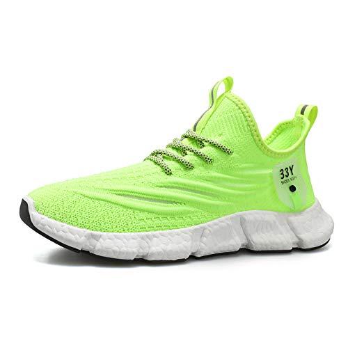 Aerlan Trailrunning Fitnessschuhe,Zapatos para Caminar,Zapatos Deportivos para Correr para Hombres Zapatos al Aire Libre de Moda Casual-Verde Claro_39#