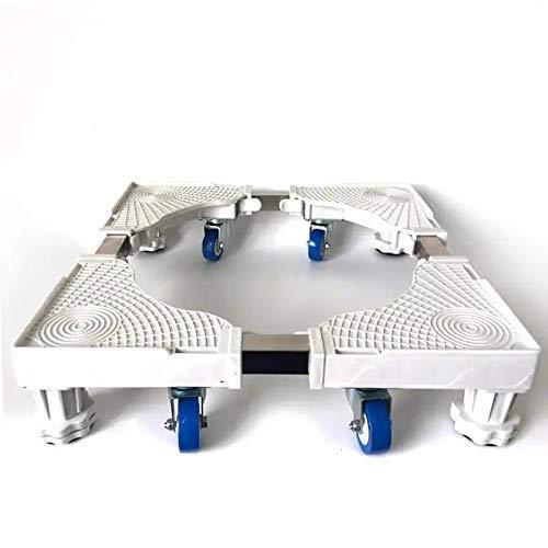 GPWDSN Tambores eléctricos, Carros con Ruedas, Base Ajustable para Lavadora, Ruedas universales extraíbles para secadoras, refrigeradores, congeladores.