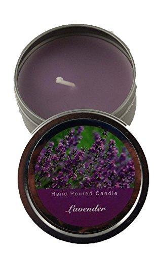 Dosenkerze Duftkerze 62 x 30 mm in lila - Duft Lavendel