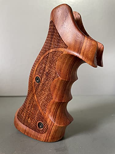 Feelsogood New Hardwood Professional Target Grip Compatible with Taurus Tracker/Judge 17 44 415 425 450 617 627 692 Rough Texture Engraved