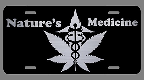 Vincit Veritas CBD Oil Cannabis Medicinal Marijuana Black Laser Etched License Plate   Premium Quality   12-Inch by 6-Inch   LP014