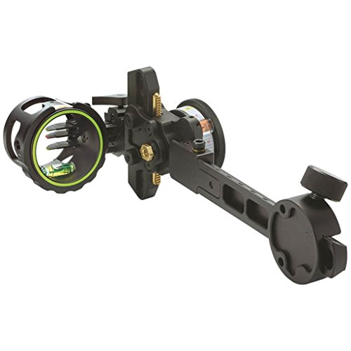 HHA Optimizer King Pin Sight Tournament 3519 3 Pin .019 RH Archery Equipment, Black