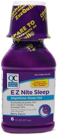 Quality Choice EZ Nite Max 78% OFF Super intense SALE Sleep Nighttime Aid Berry Flavor 6o
