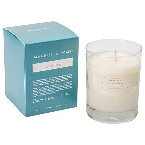 Magnolia Home Restore Boxed Glass Candle Home Decor By Joanna Gaines