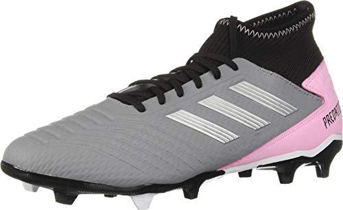 adidas Performance Predator 19.3 Firm Ground Athletic Shoe, Grey/Silver Metallic/Black, 10 M US