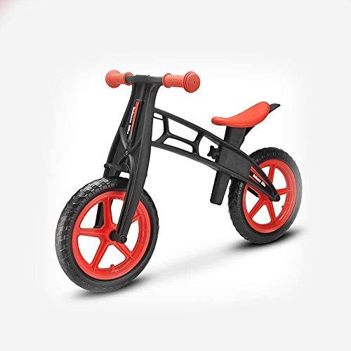 Bck 2-3-6 años de edad Niños Bicicleta de balance, 12 pulgadas Balance de dos ruedas para niños Coche de coche Scooter Bicicleta Screenmill Racing Scooter Sin pedal Material amigable para el medio amb