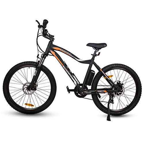 ECOTRIC Mountain EBike Electric Bicycle Bike 26' Alloy Frame with 500W Powerful Motor 36V/13Ah Lithium Suspension Fork (Black)