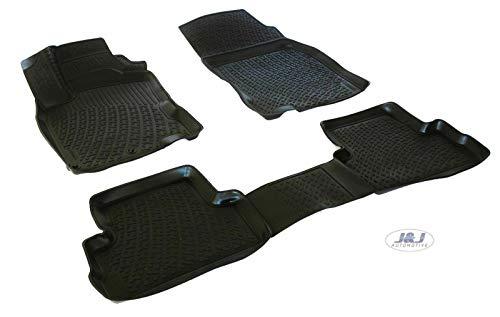J&J AUTOMOTIVE | Tapis DE Sol en Caoutchouc 3D Exclusive Compatible avec Nissan Qashqai II 2014-2021