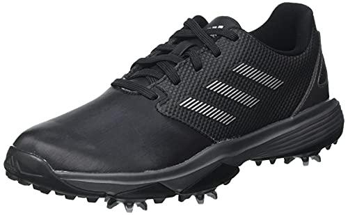 adidas ZG 21 JR Golfschuh, Schwarz/Silber/Dunkles Silber, 39 1/3 EU