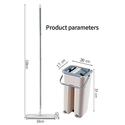 KaiKai Und Bucket-System Pads Einfacher Selbst Wringing Staub s for Bodenreinigung (Größe: Vier Tuch Sets) (Size : Four Cloth Sets)